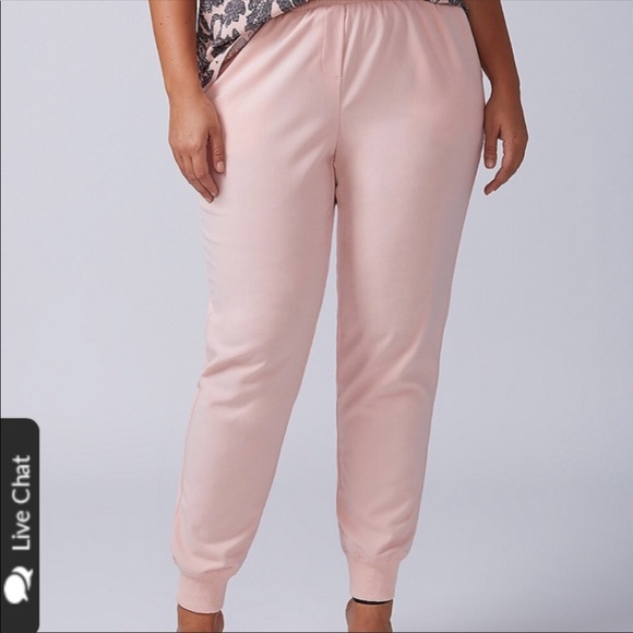 shoes for cheap recognized brands how to find Plus Size Pink Woven Joggers